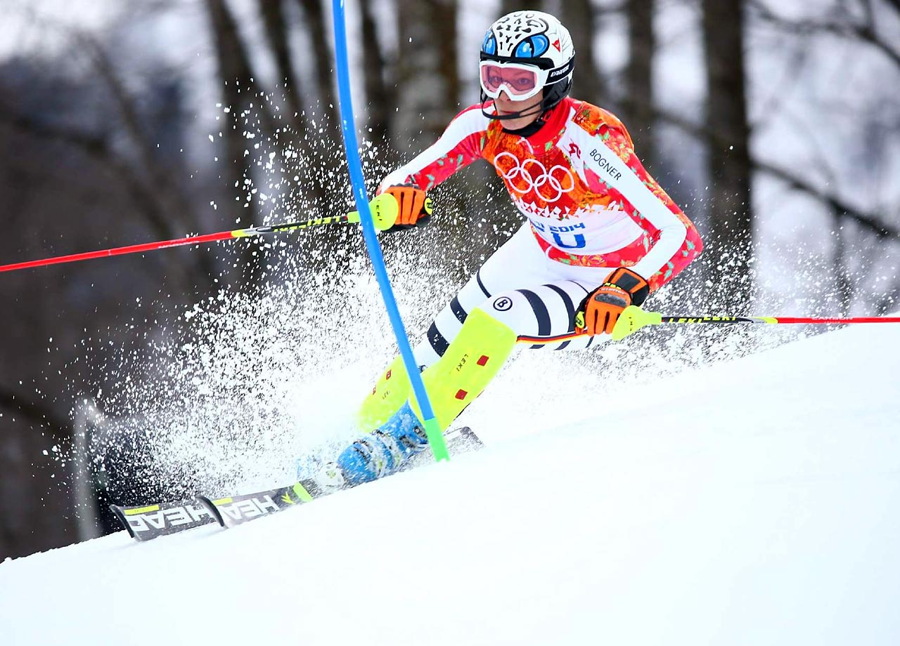 Maria Hoefl-Riesch of Germany wins the gold medal in the Super Combined Slalom.