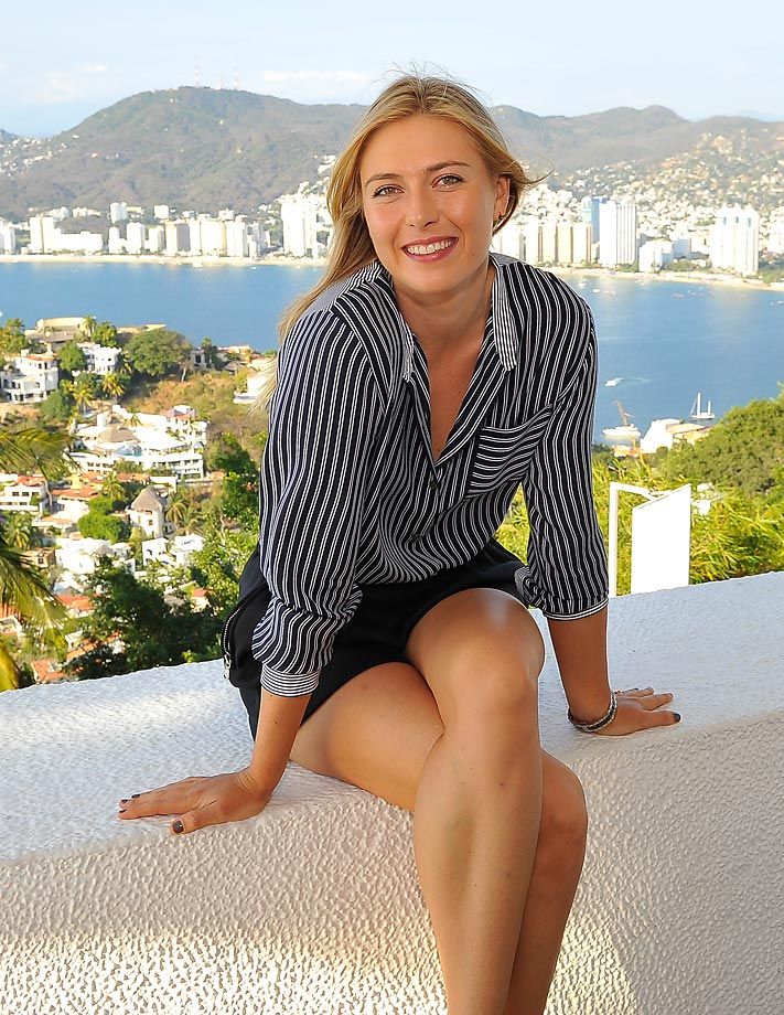 Maria Sharapova enjoys her free time in Acapulco while in town for the Abierto Mexicano Telcel Tennis Tournament.