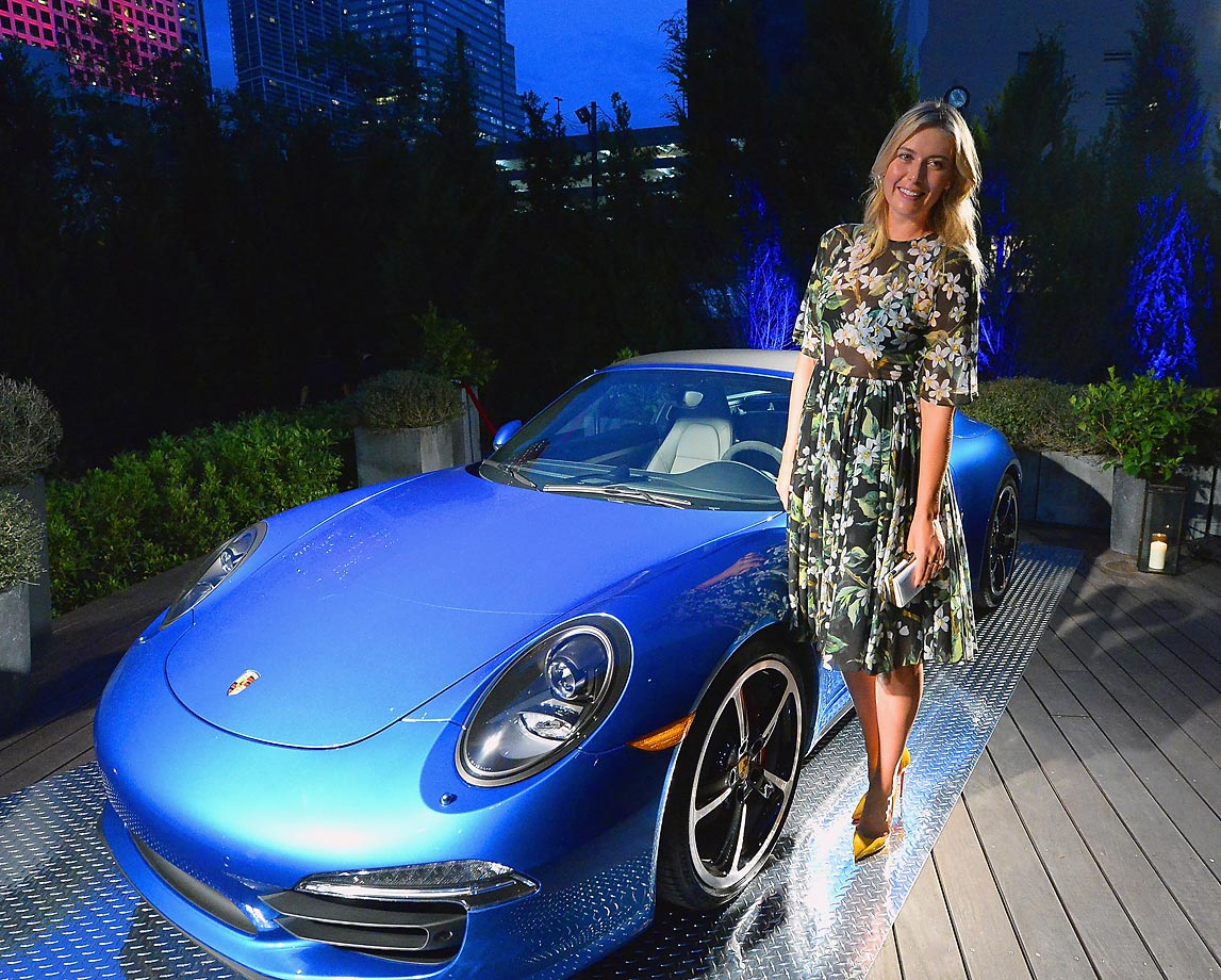 Maria Sharapova attends the Haute Living Cover Release Party.