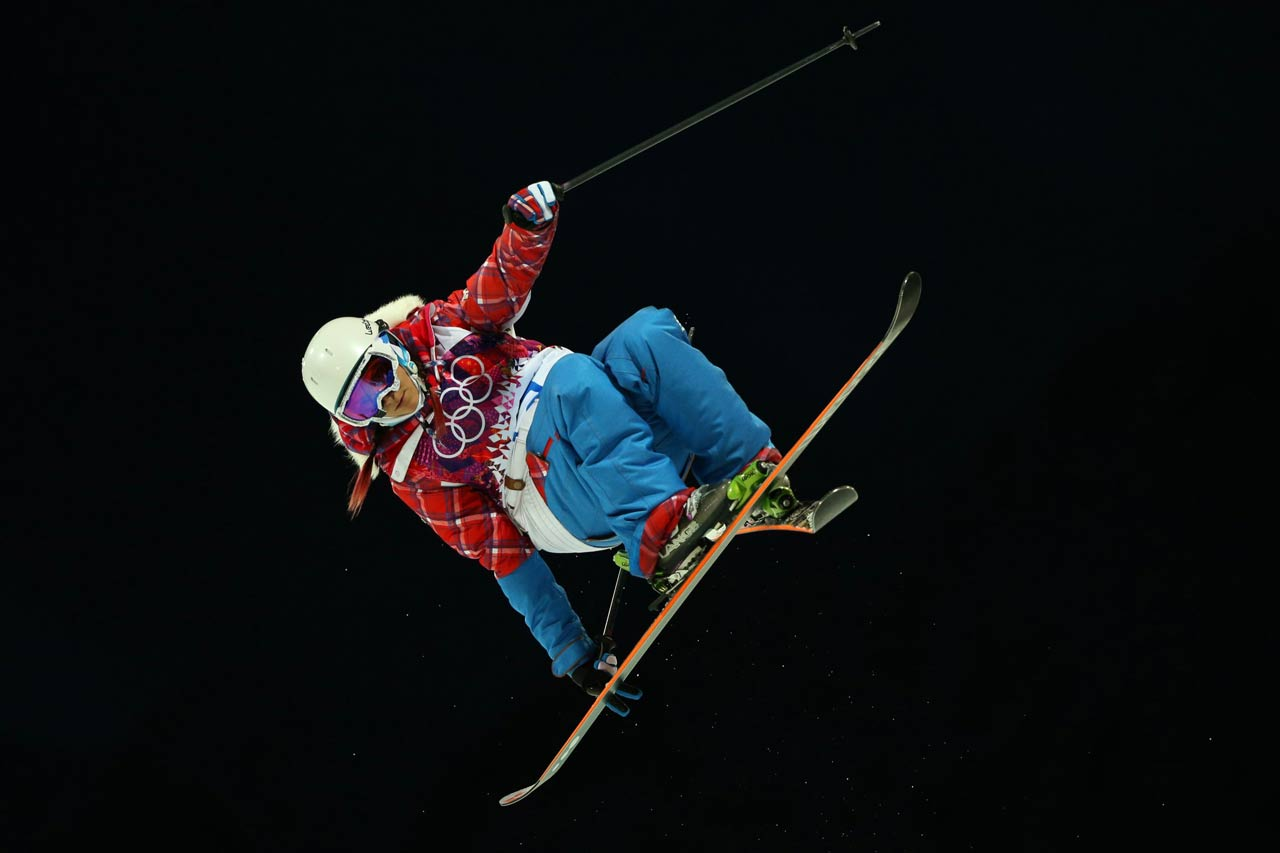 Silver medalist Marie Martino retired in 2007, but came back at the urging of late Canadian freestyle skiing icon Sarah Burke.
