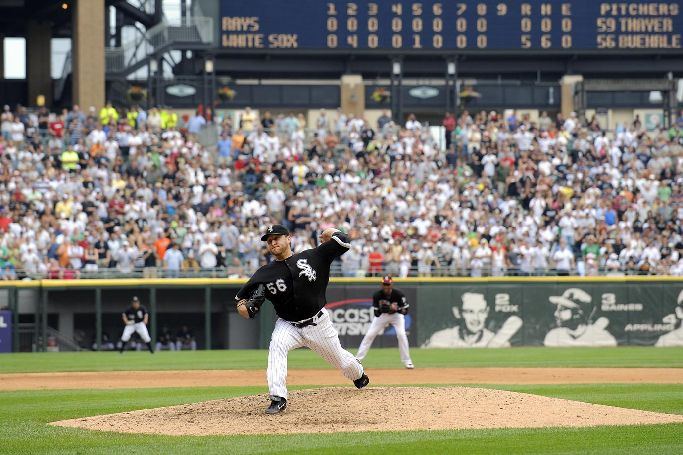 The White Sox drafted Buehrle, who went on to pitch for the team for over 10 years. In his career, Buehrle has won over 200 major league games, thrown a perfect game and a 27-batter no-hitter, made five All-Star teams, won four Gold Gloves, and remains one of the most durable pitchers in major league history.