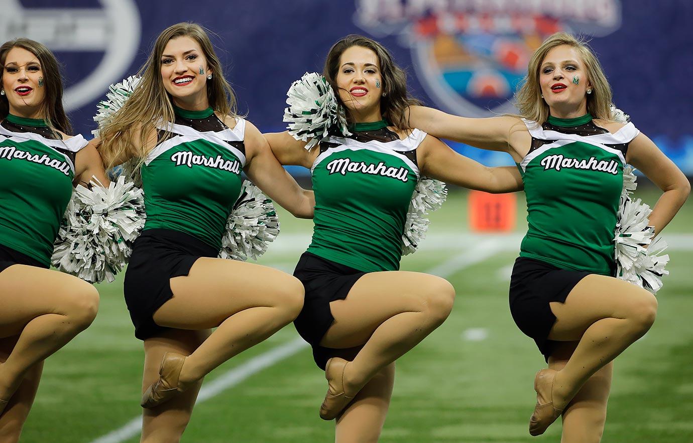 Marshall University Cheerleaders   NCA Nationals Showcase - YouTube
