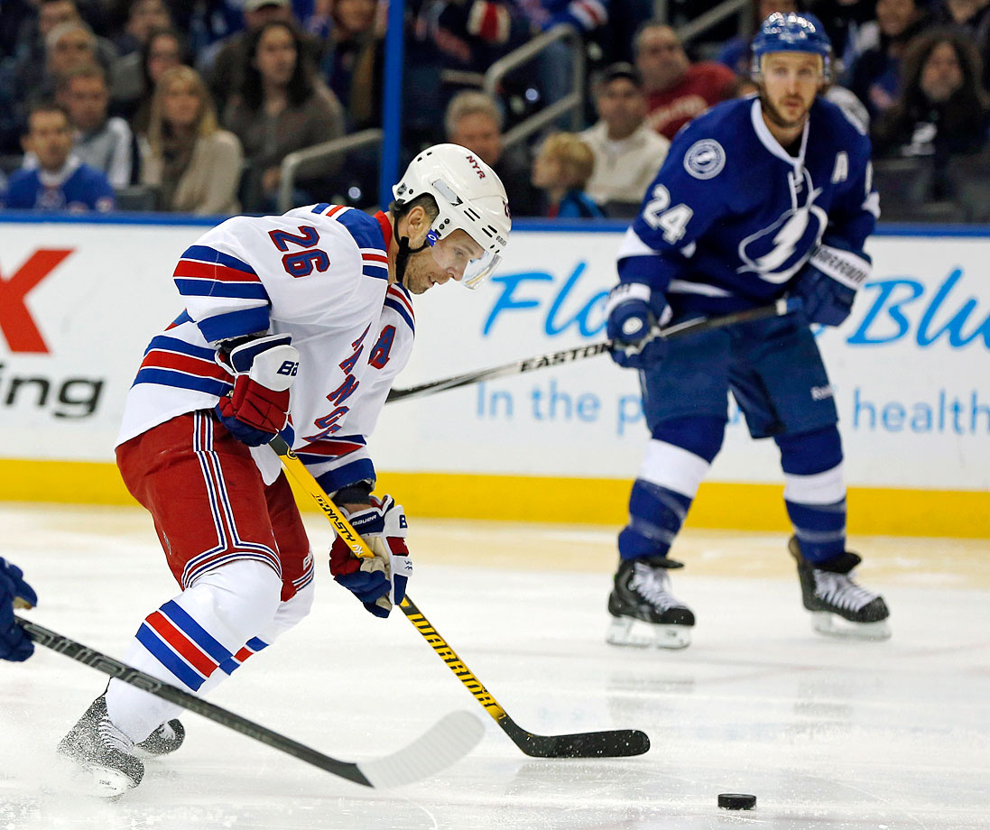The deadline day blockbuster of 2014 was a trade of captains with the Rangers sending impending unrestricted free agent winger Ryan Callahan to the Lightning for Martin St. Louis. Tampa Bay's longtime winger and offensive force had demanded a trade to New York after he was snubbed for Canada's Olympic team by his GM Steve Yzerman. St.Louis played a key role in the Rangers' run to the Stanley Cup finals, where they fell to the Kings.
