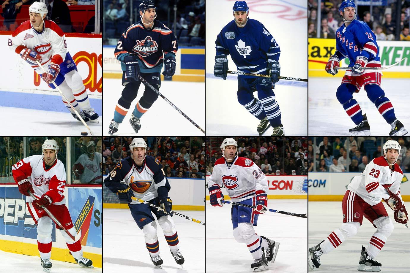 Montreal to NY Islanders (4/5/95), NY Islanders to Toronto (3/13/96), Toronto to NY Rangers (10/14/98), Los Angeles to Detroit (3/3/03), Anaheim to Atlanta (9/26/08), Atlanta to Montreal (2/16/09), Vancouver to Phoenix (3/3/10)