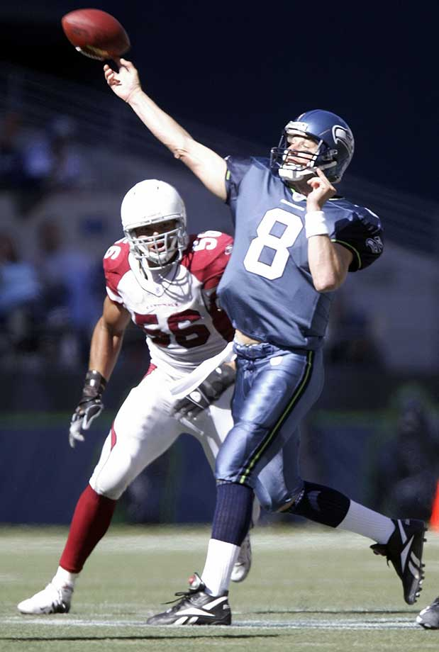 On the day that he turned 30, Matt Hasselbeck led the Seahawks on three 80-yard scoring drives and watched Shaun Alexander score a record-tying four touchdowns in a 37-12 demolition of Arizona.