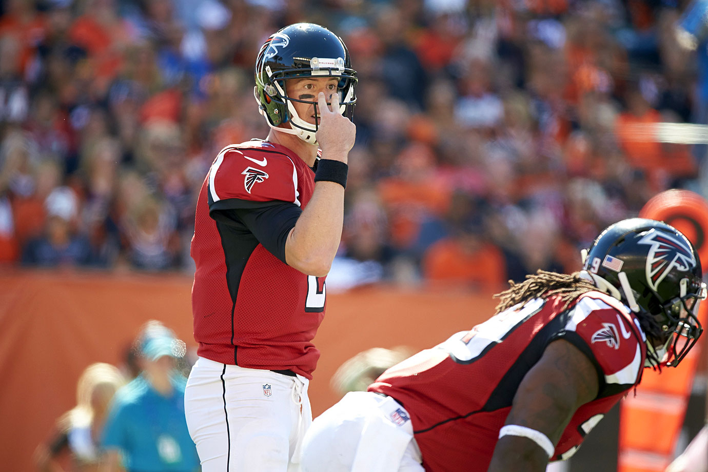 Ryan's name has gotten lost in the shuffle of late when the subject of great quarterbacks has come up. That has more to do with Atlanta's regression as a team than anything Ryan's doing wrong. In 2014, with a Swiss cheese offensive line, Ryan threw for nearly 4,700 yards, 28 touchdowns and 14 picks.