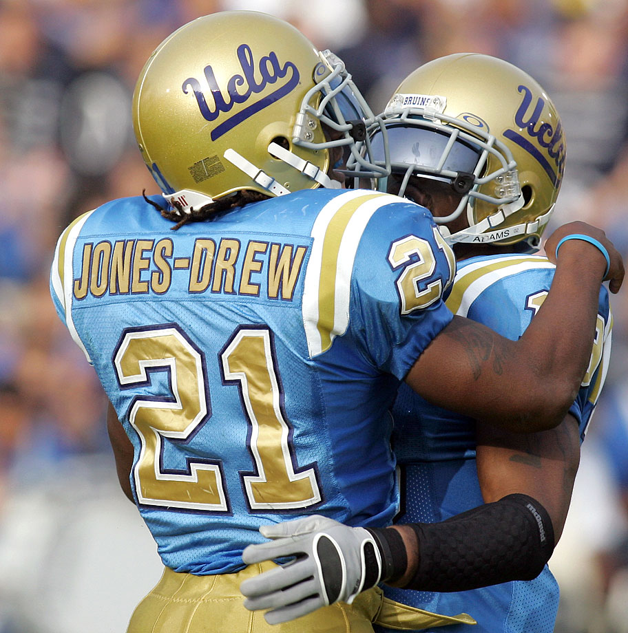 Maurice Jones's grandfather, Drew, succeeded in his one goal: to see his grandson play through his first two seasons at UCLA. And after Drew suffered a fatal heart attack at the end of the second game of Maurice's third season, the younger Jones altered the name on his jersey in tribute.
