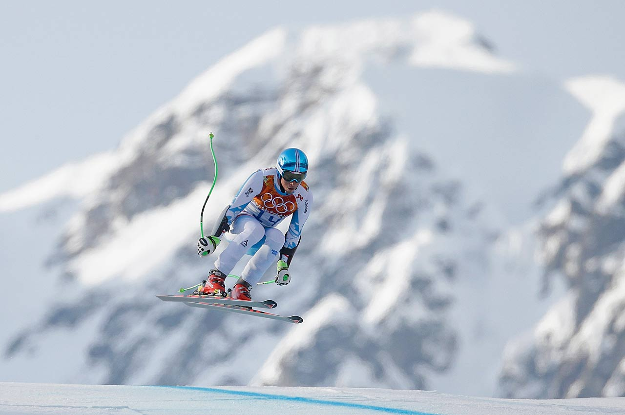 Max Franz of Austria in action during the super-G.
