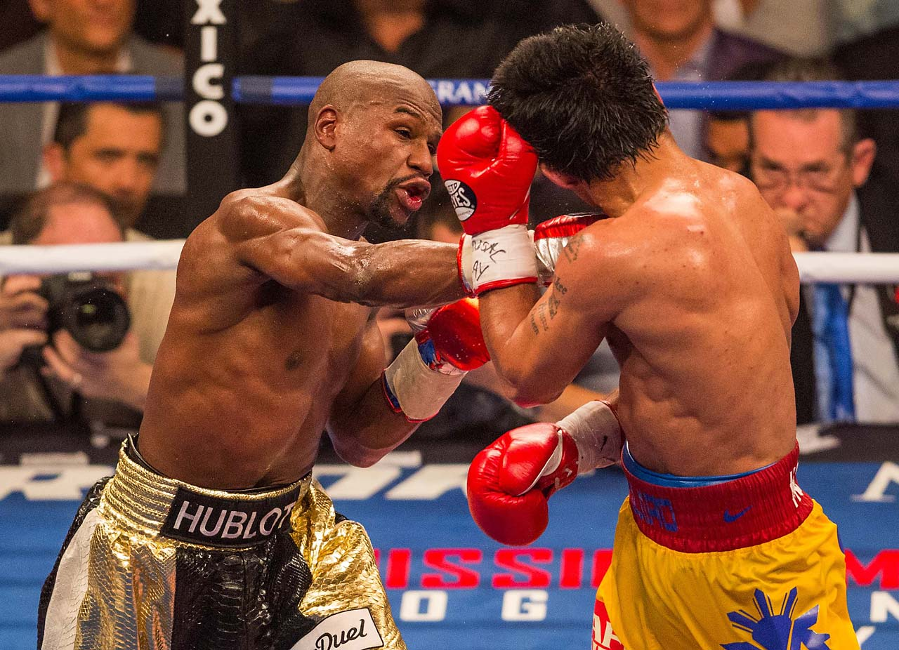 Pacquiao had vowed to take the fight to Mayweather and force him into a war. His camp thought Mayweather's 38-year-old legs weren't what they once were. (AP)