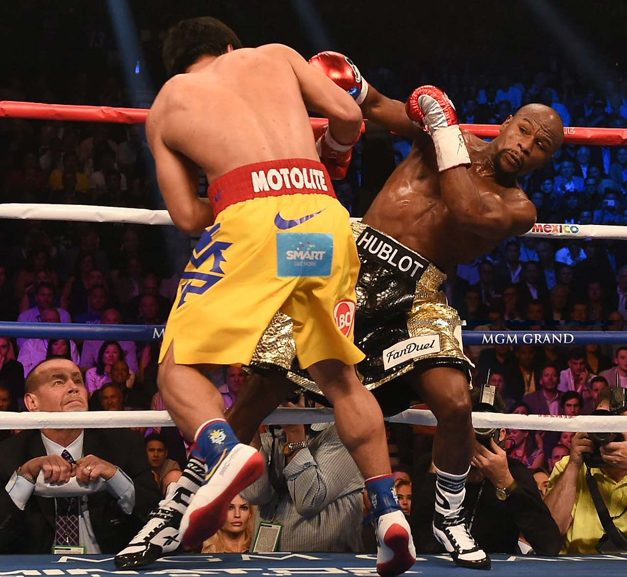Pacquiao thought he had won the bout, largely on the basis of a few left hands that seemed to shake Mayweather. (AP)