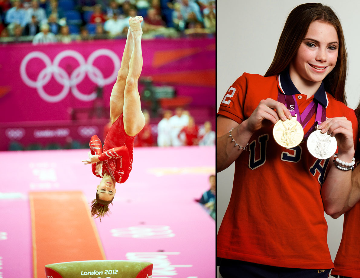 "Olympic gold medalist McKayla Maroney announced her retirement from elite gymnastics. Maroney was a member of the ""Fierce Five"" that won gold in the team event at the 2012 Olympics in London. Maroney also captured silver in the vault, which resulted in her photograph on the podium to go viral with her ""not impressed"" face. She suffered a fractured tibia in her left leg while performing the uneven bars during the 2012 Kellogg's Tour of Gymnastics Champions in California."