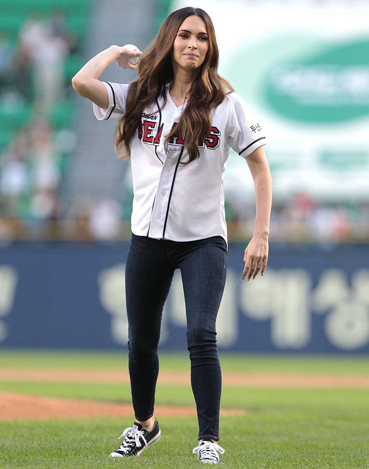 Aug. 27 at the LG Twins vs. Doosan Bears game in Seoul, South Korea