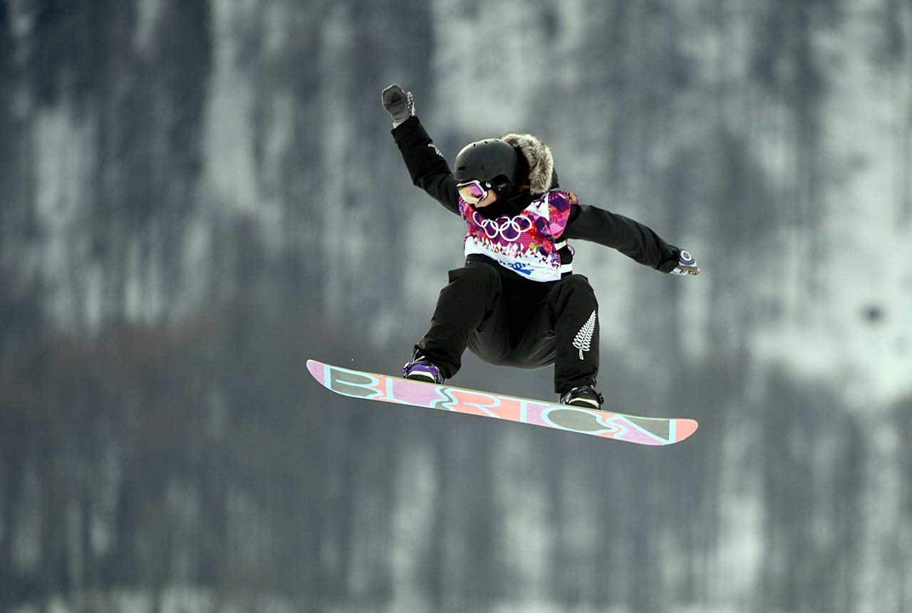 Merika Enne of Finland during the slopestyle competition.