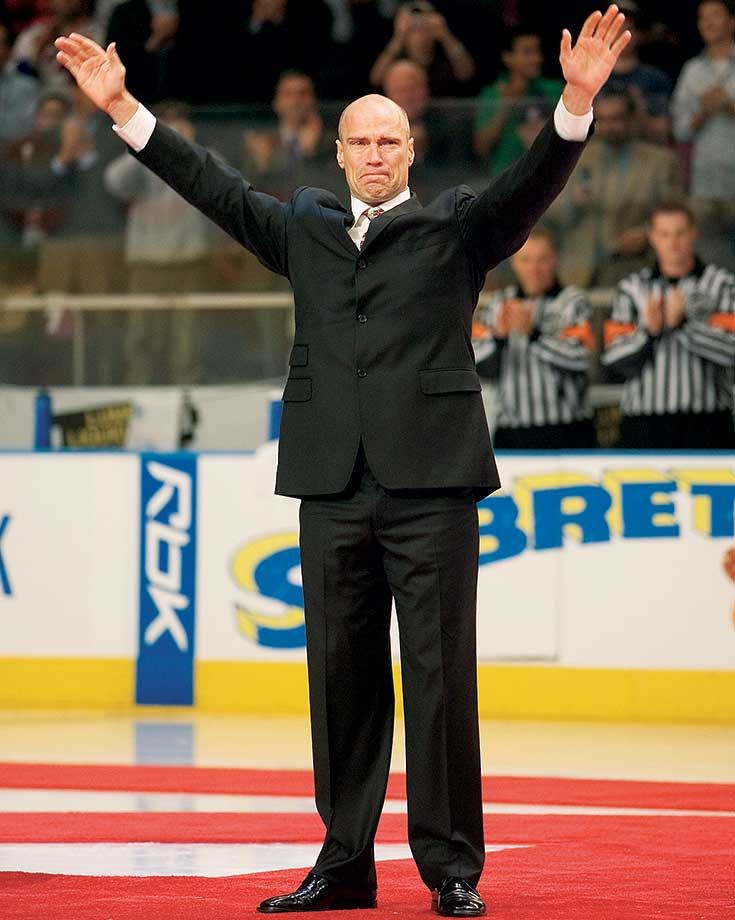 The Rangers retired Messier's No. 11 in a 75-minute ceremony during a game against his old team, the Edmonton Oilers. The ceremony included most of the '94 Stanley Cup squad.
