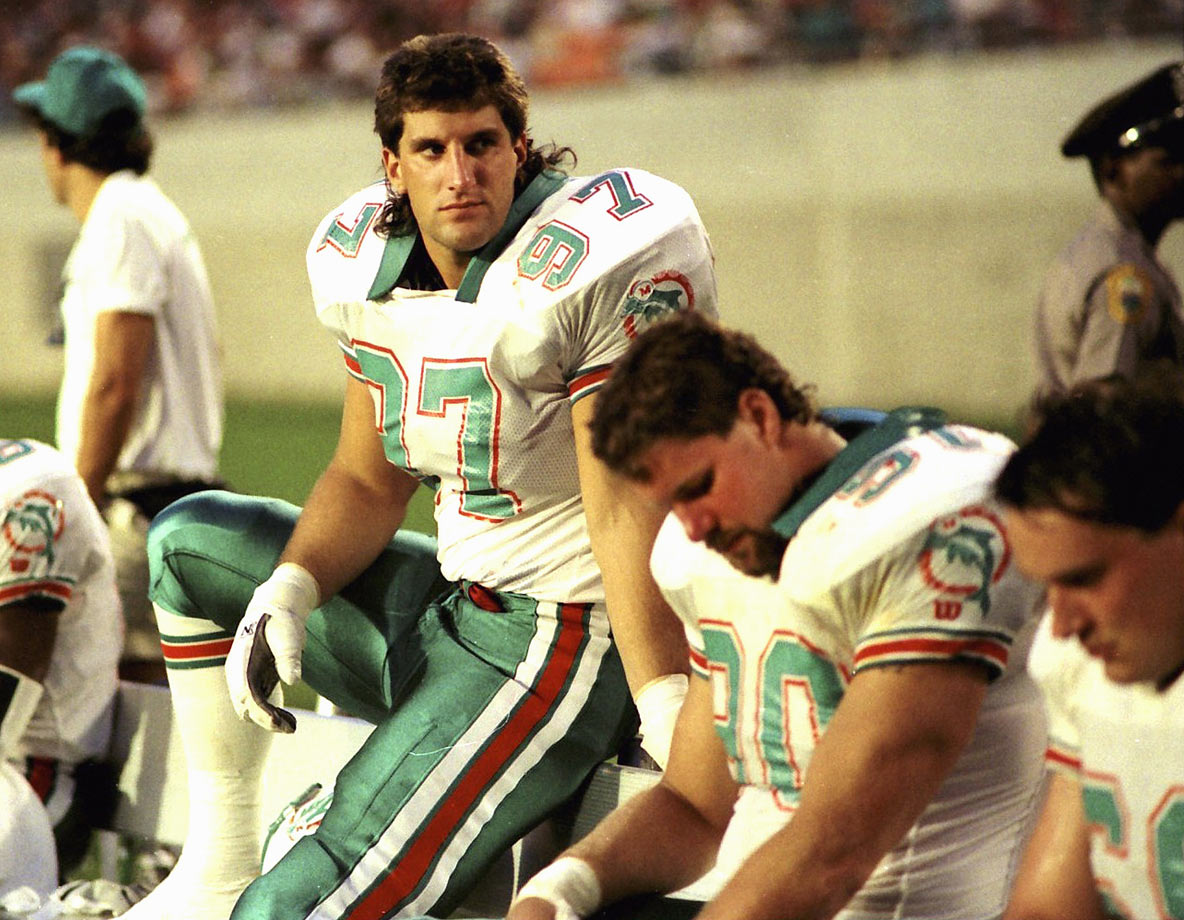 Tough to separate this duo because, right in the heart of Dan Marino's legendary career, the Dolphins spent back-to-back first-round picks on Bosa (1987) and Kumerow (1988). The duo combined for just 12 sacks with the Dolphins, each playing all of three seasons before calling it quits. Miami then spent a 1989 Round 1 selection on RB Sammie Smith, who fumbled enough to make it seem like he might be actively sabotaging the Dolphins.
