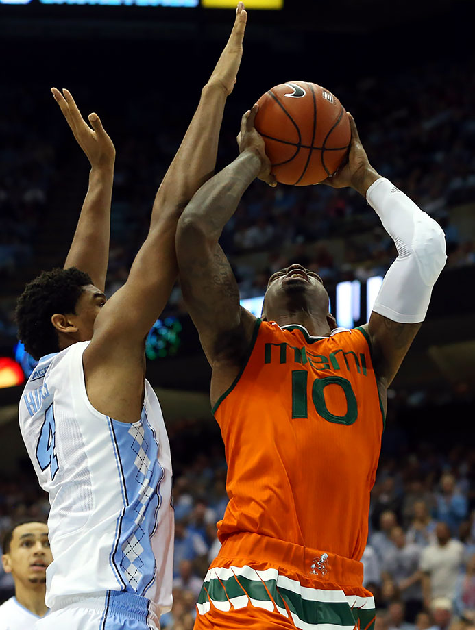 If chalk prevails the rest of the way, Miami will have to go through the regular season champions of the Big East, Big 12, Pac-12 and ACC to cut down the nets in Miami. No team has a more challenging path to the championship.