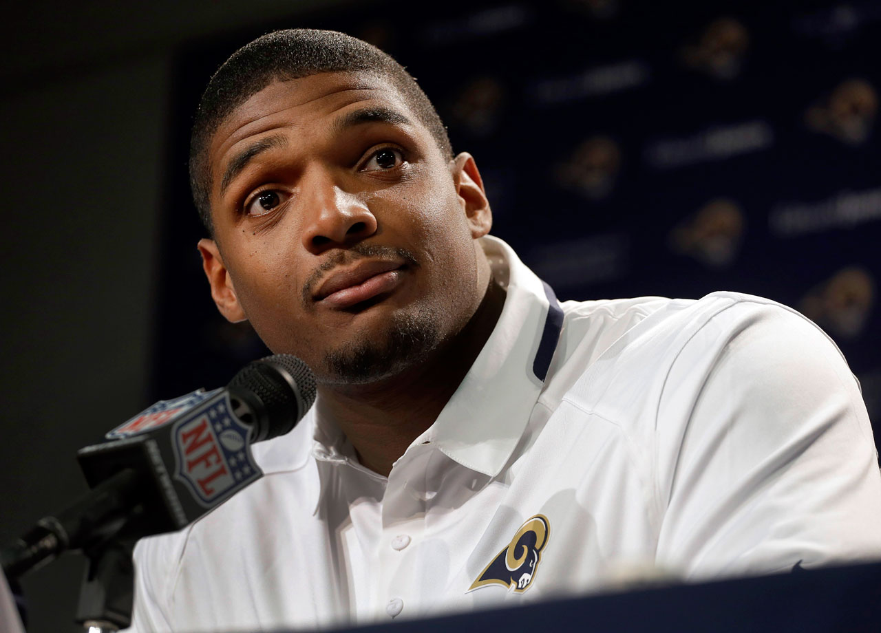 Michael Sam comes out as being gay months before the 2014 NFL Draft, making him the first openly gay player to enter the draft. He then becomes the first openly gay player to be drafted into the NFL when the St. Louis Rams selected him in the seventh round.