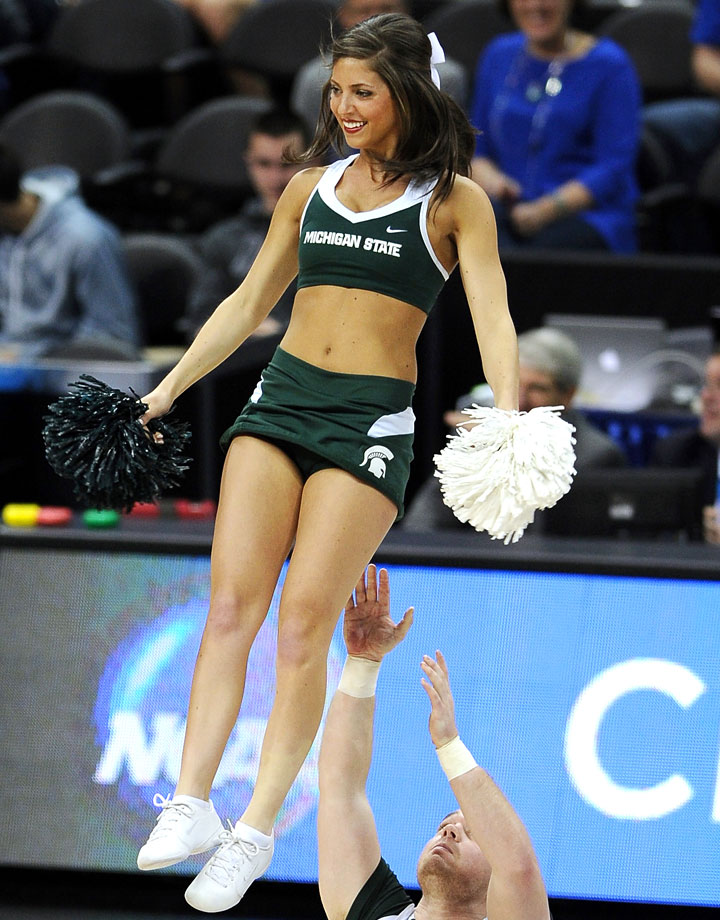 Suggest Michigan state spartans cheerleaders well. apologise