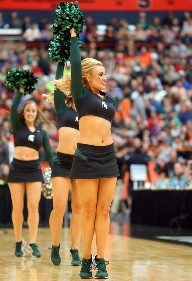 Similar Michigan state spartans cheerleaders think, that