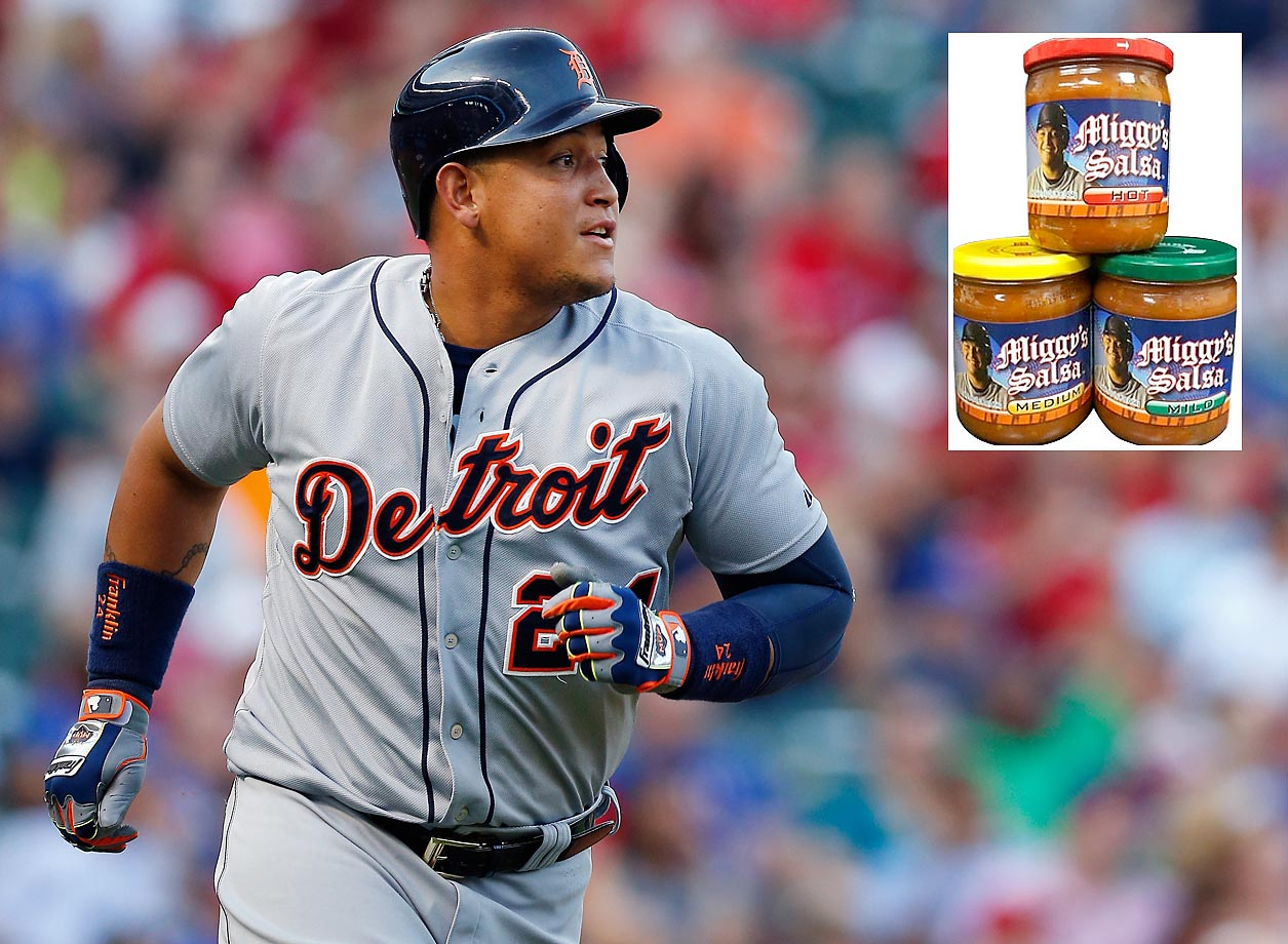 Miguel Cabrera announced the launch of a new website - miggysalsa.com - to sell his signature brand of salsa. Cabrera is the latest in a long line of athletes having their faces attached to a product. In honor of Cabrera and salsa-lovers everywhere, here are some other athletes and their food products.