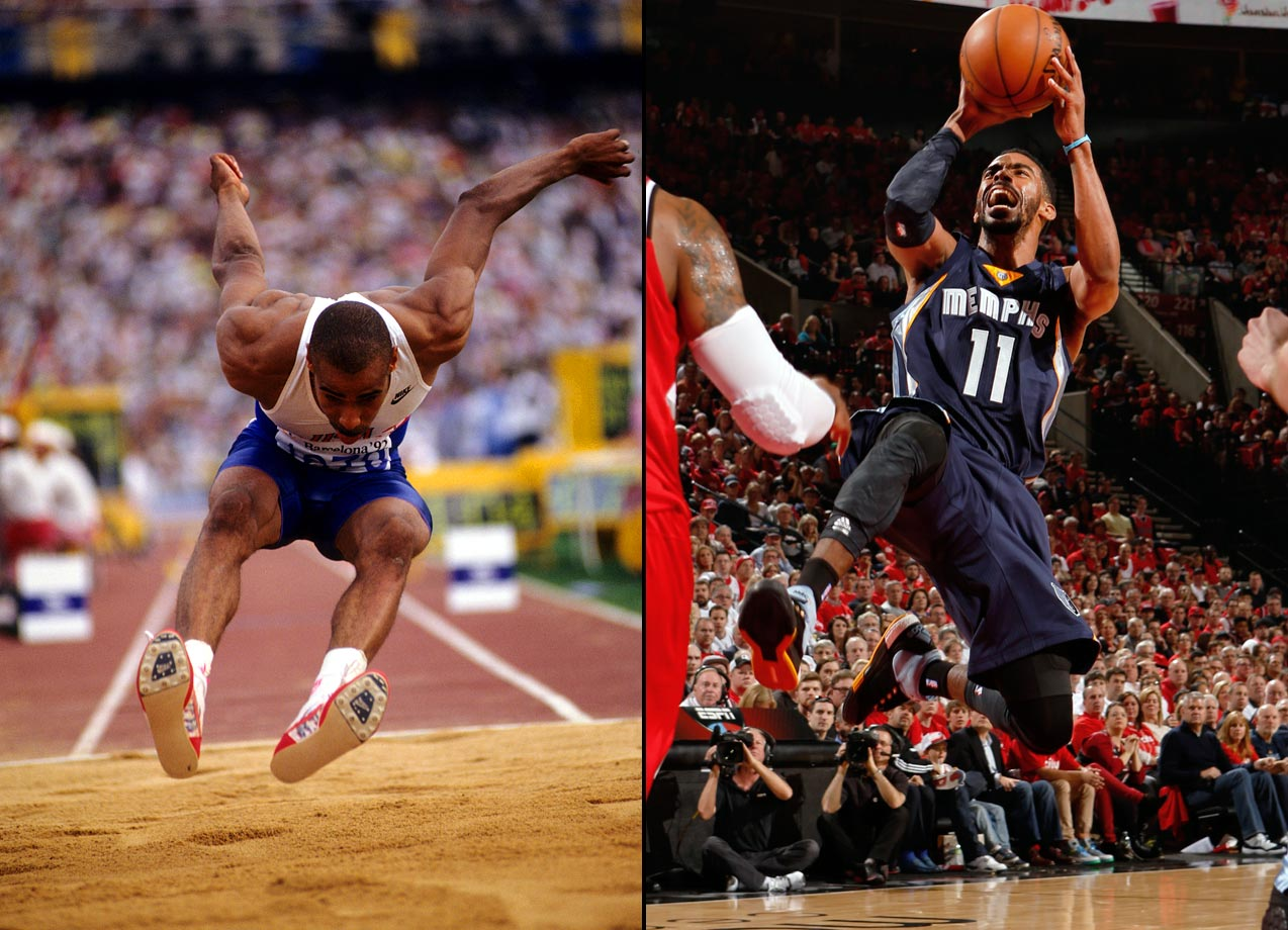 Mike Conley, Sr. won gold in the triple jump at the 1992 Summer Olympics in Barcelona. His son was drafted 4th overall in the 2007 NBA Draft and has played point guard for the Memphis Grizzlies through 2016.