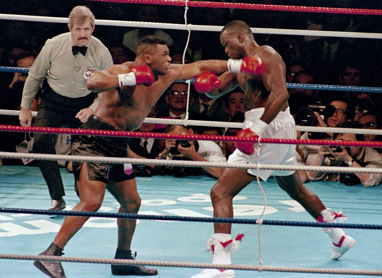 Once the fight started, it was clear that this was not the same Mike Tyson who had destroyed Michael Spinks just 18 months before. At 220½ pounds he looked heavy and less mobile. Douglas, meanwhile, looked better and more focused than ever as he stung Tyson repeatedly with a thudding jab.
