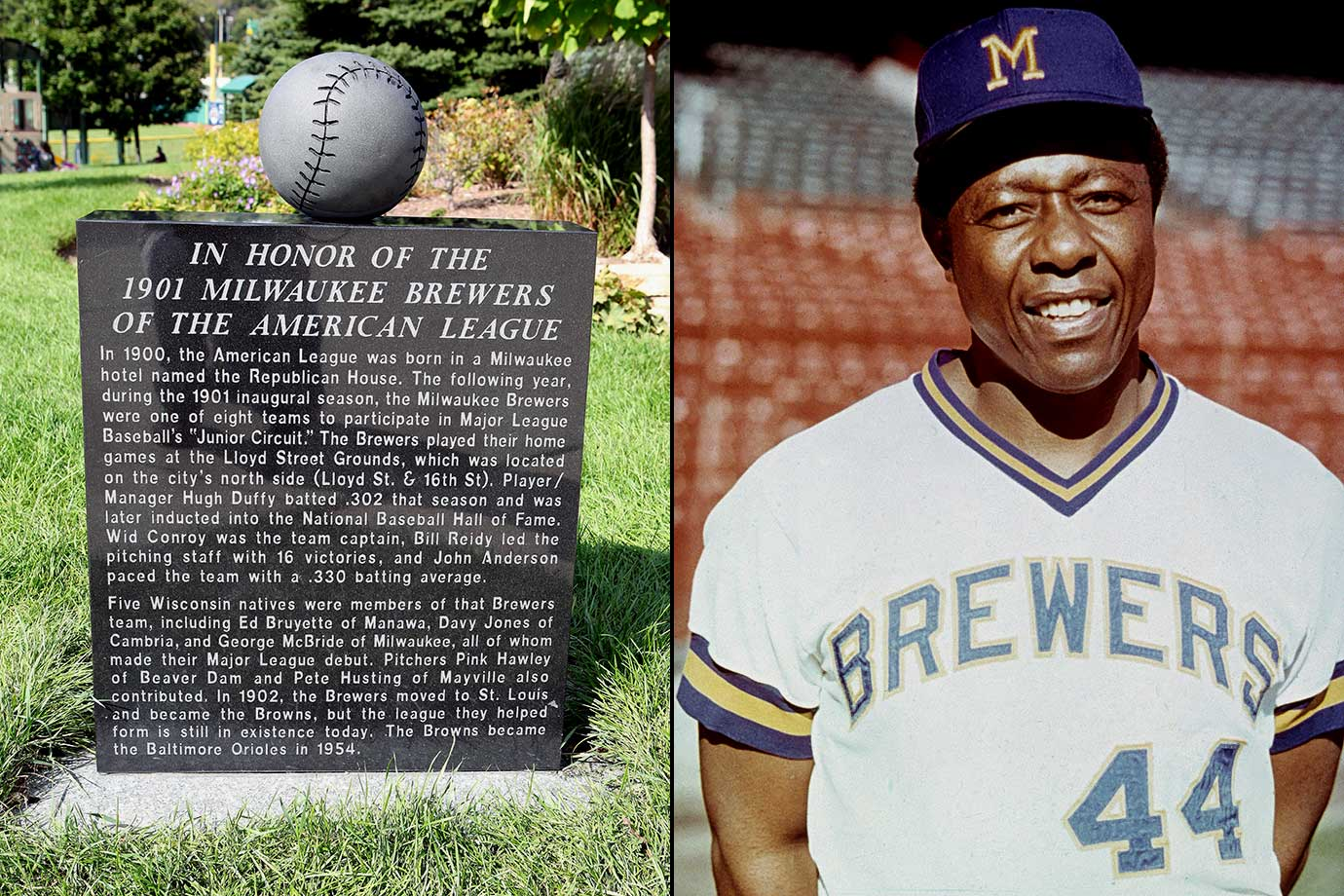 Milwaukee had the Brewers for just one year (1901) before they bolted to St. Louis and became the Browns. Then, following the 1953 season, they moved to Baltimore and became the Orioles. Milwaukee didn't have another MLB team until the Seattle Pilots moved there in 1970 and changed their name to the Brewers.