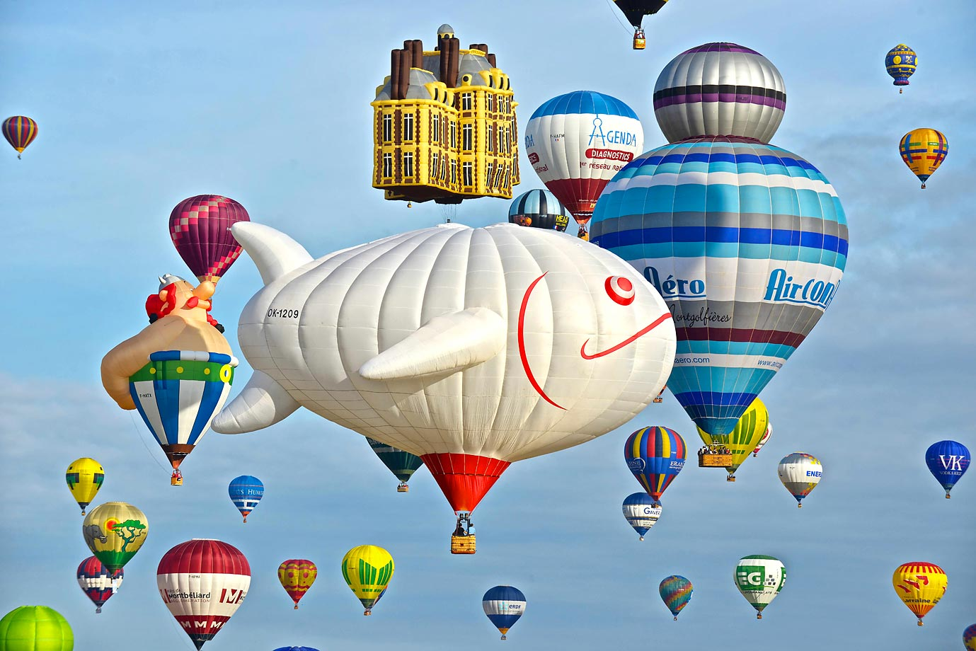 View of the Mondial Air Balloon event in France.