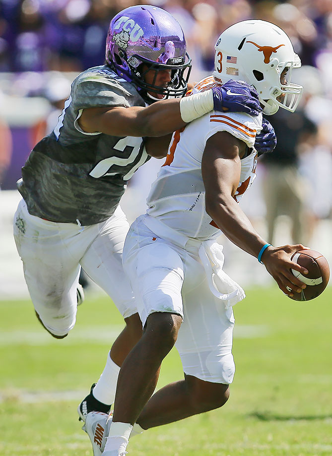 Wilson earned a starting spot as a true freshman in 2015, finishing with 61 tackles on the year. Now he's poised to become one of TCU's defensive leaders in a year when the Horned Frogs will have to lean on their defense more. Quarterback Trevone Boykin and receiver Josh Doctson are gone, raising the pressure on Wilson and the defense to create stops.