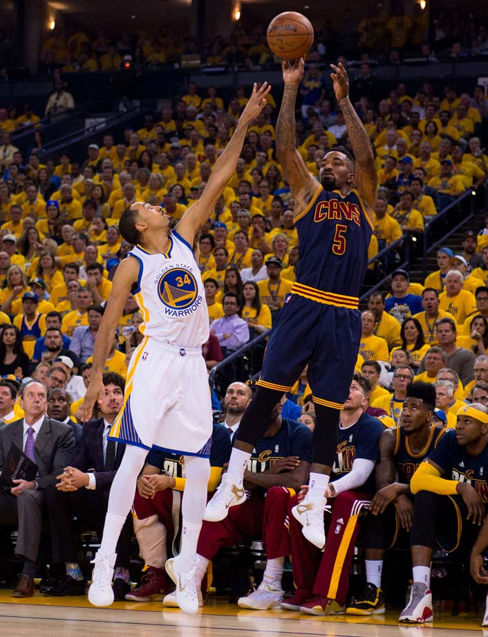 J.R. Smith made 3 of 13 from the field and was the only Cleveland reserve to score in Game 1.