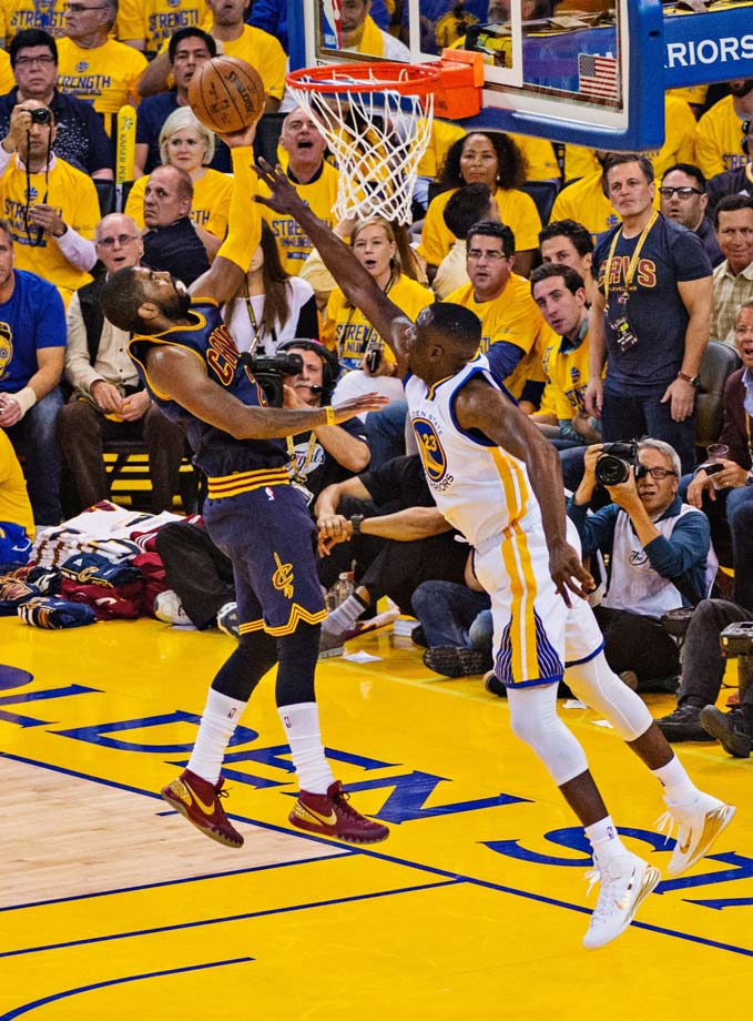 Kyrie Irving made 10 of 22 shots and contributed six assists, seven rebounds, four steals and two blocks.