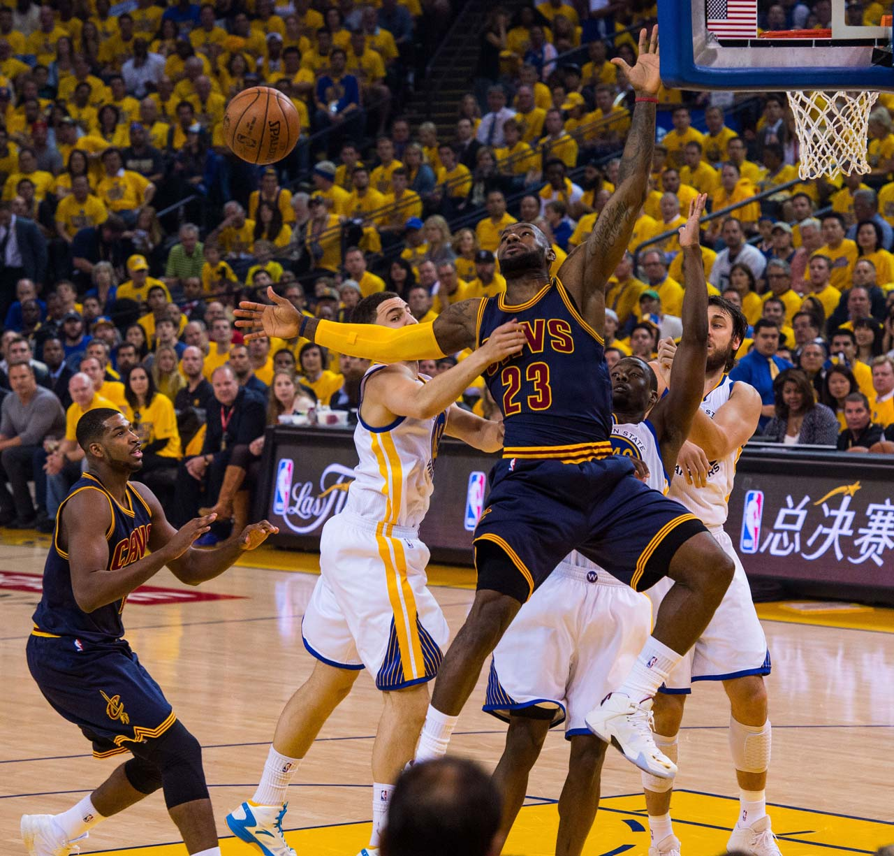 LeBron James gave Golden State fits in regulation, but missed three shots and had two turnovers in overtime.