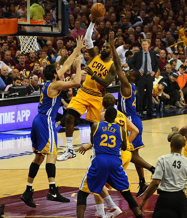 LeBron James's 40-point effort followed 44-point and 39-point efforts in Games 1 and 2, respectively.