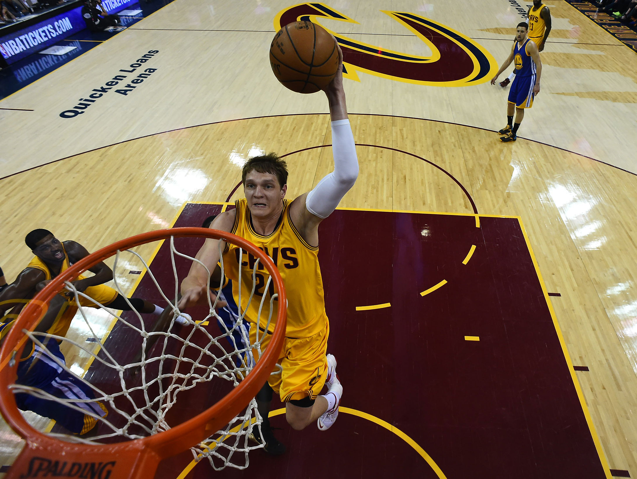 Timofey Mozgov scored a career-high 28 points in Game 4 to lead all players in scoring.