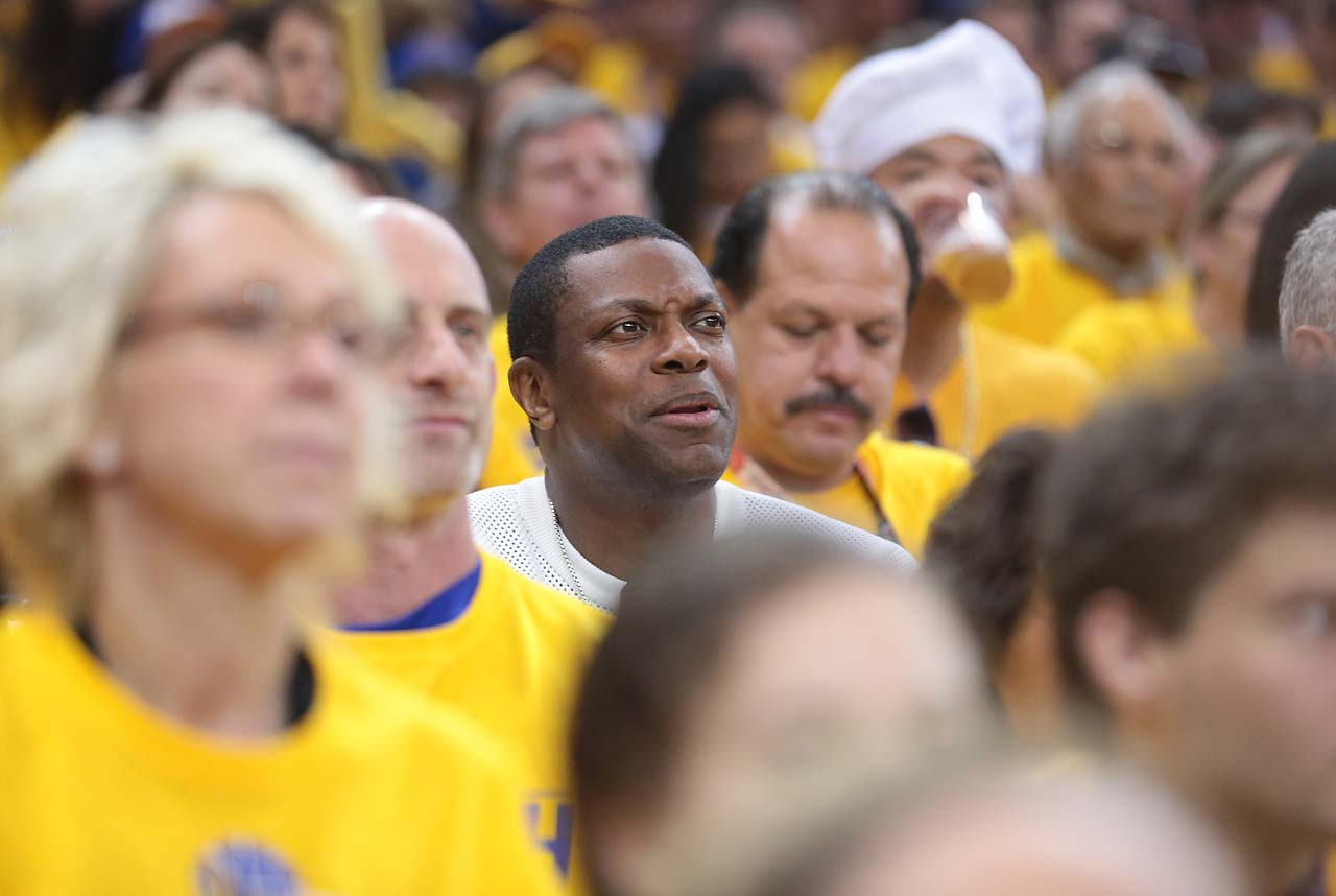 Actor Chris Tucker among the Warriors fans at GAme 5.