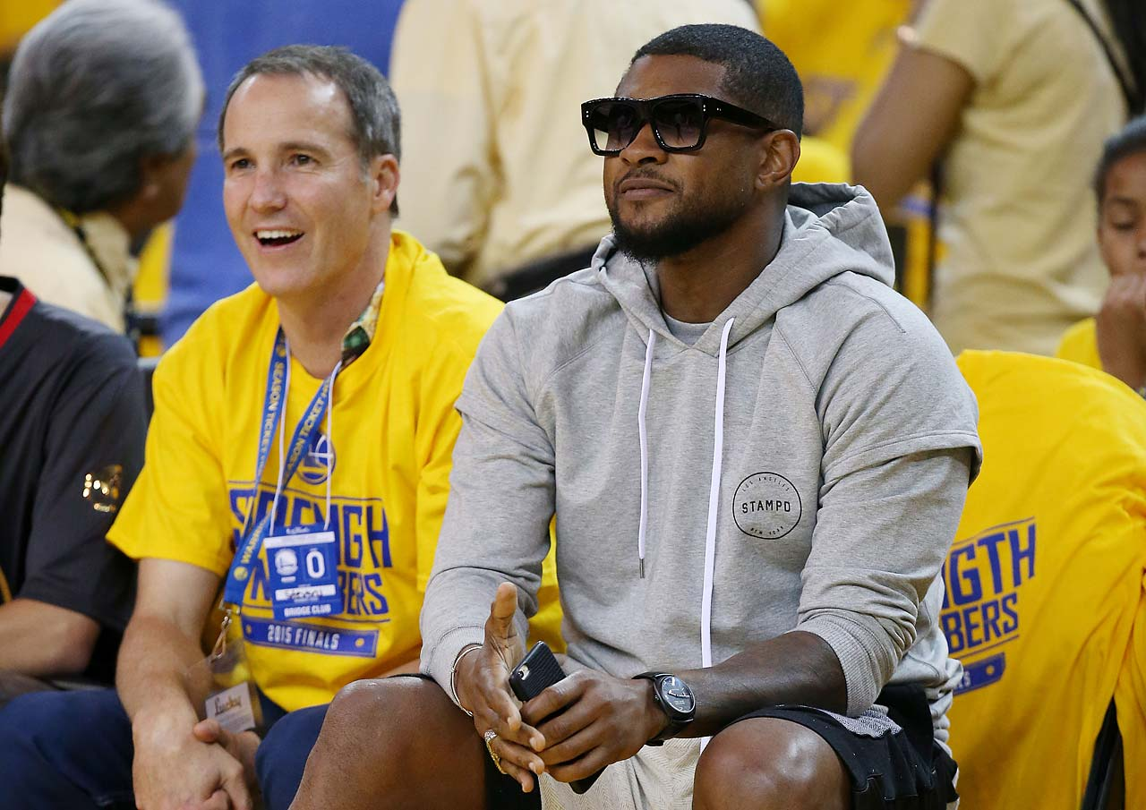 Singer and Cleveland Cavaliers part-owner Usher attends Game 5.