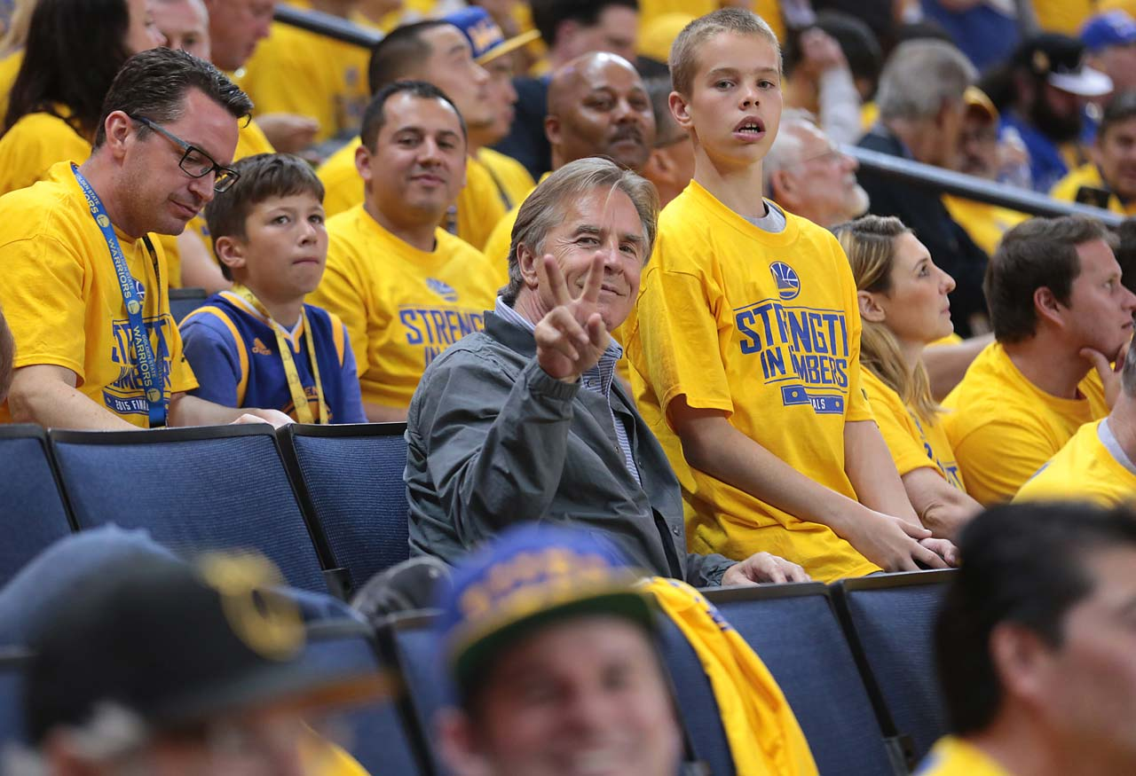 Actor Don Johnson takes in Game 4.