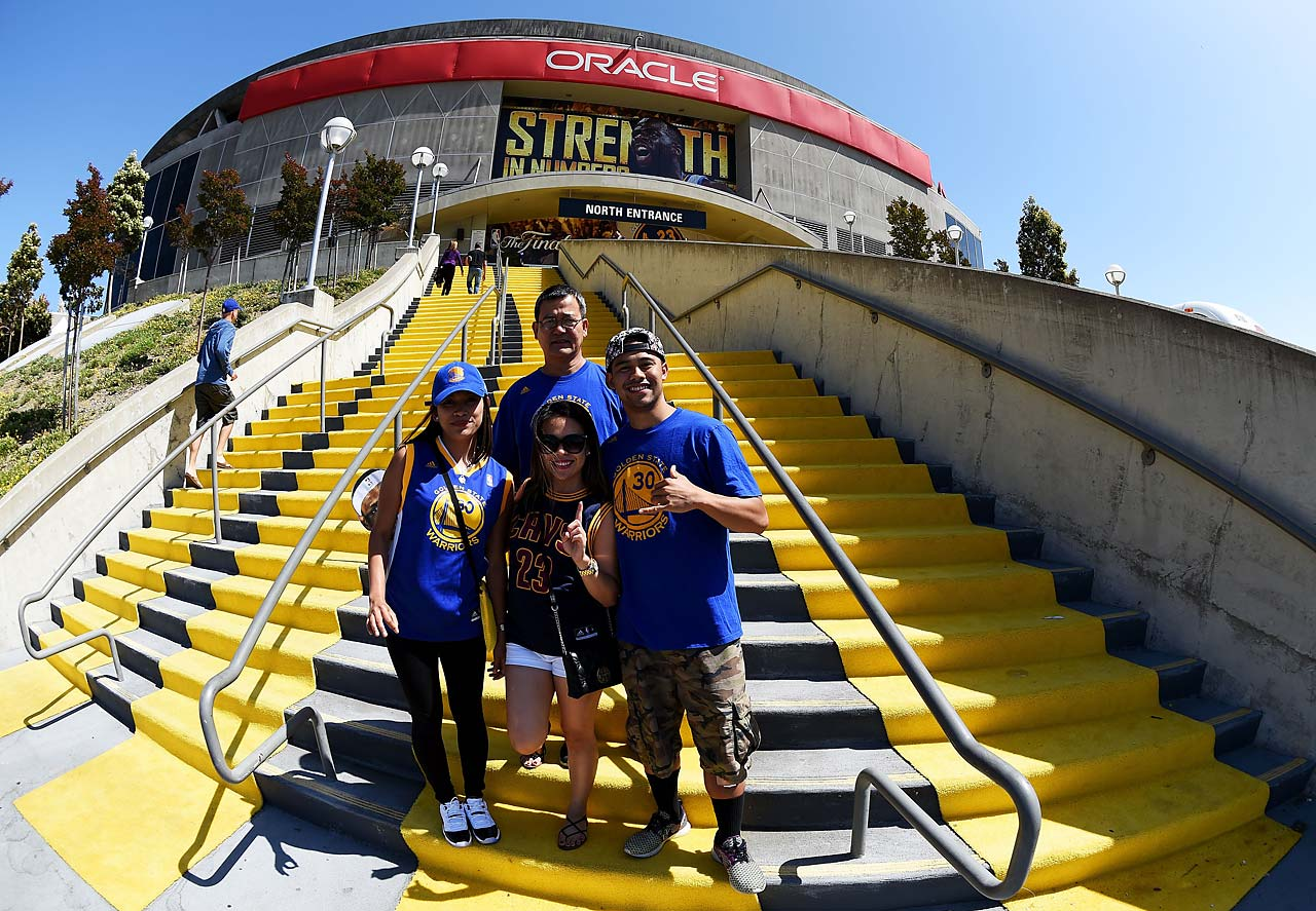 Fans outside Oracle Arena.