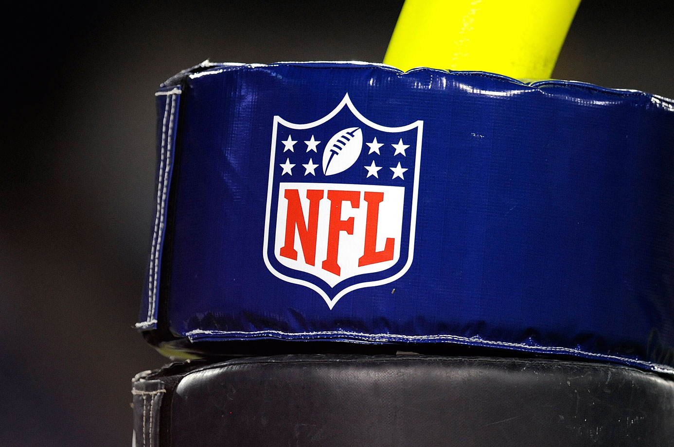 A padded doughnut covers part of an NFL goal post during a preseason game between the Tennessee Titans and St. Louis Rams at LP Field on Aug. 9, 2008 in Nashville.