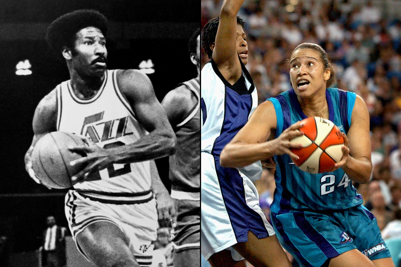 Natalie, who didn't meet her father until she was 16, was the first woman to earn All-America honors in both basketball and volleyball in the same year while at UCLA. Nate played eight seasons in the NBA, while Natalie played seven in the WNBA.