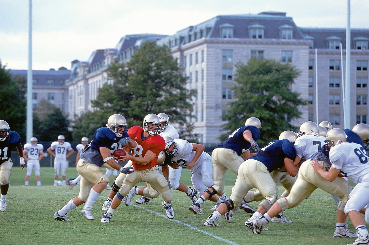 The Midshipmen scrimmaged the Friday after 9/11 but knew that football wasn't the sole reason they were at the Naval Academy.