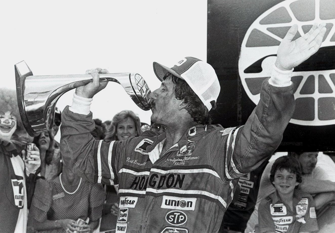 Neil Bonnett won back-to-back years in Charlotte, having also captured the title in 1982.