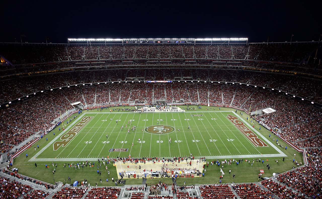 A general view of Levi's Stadium during the third-quarter of the game between the San Francisco 49ers and the Chicago Bears.