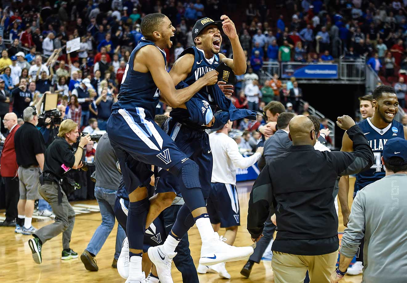Villanova knocked off the tournament's top-seeded team, sending Kansas home with a 64-59 upset in Louisville.