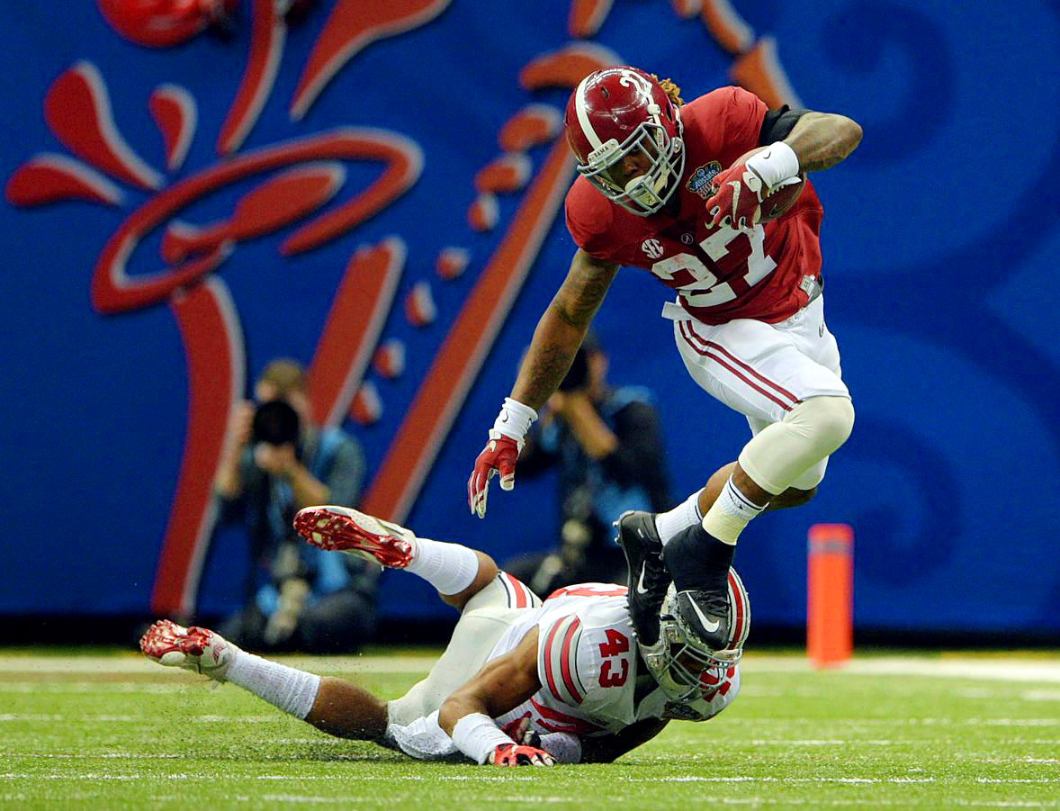 Derrick Henry led Bama in rushing with 95 yards and a touchdown on 13 carries.