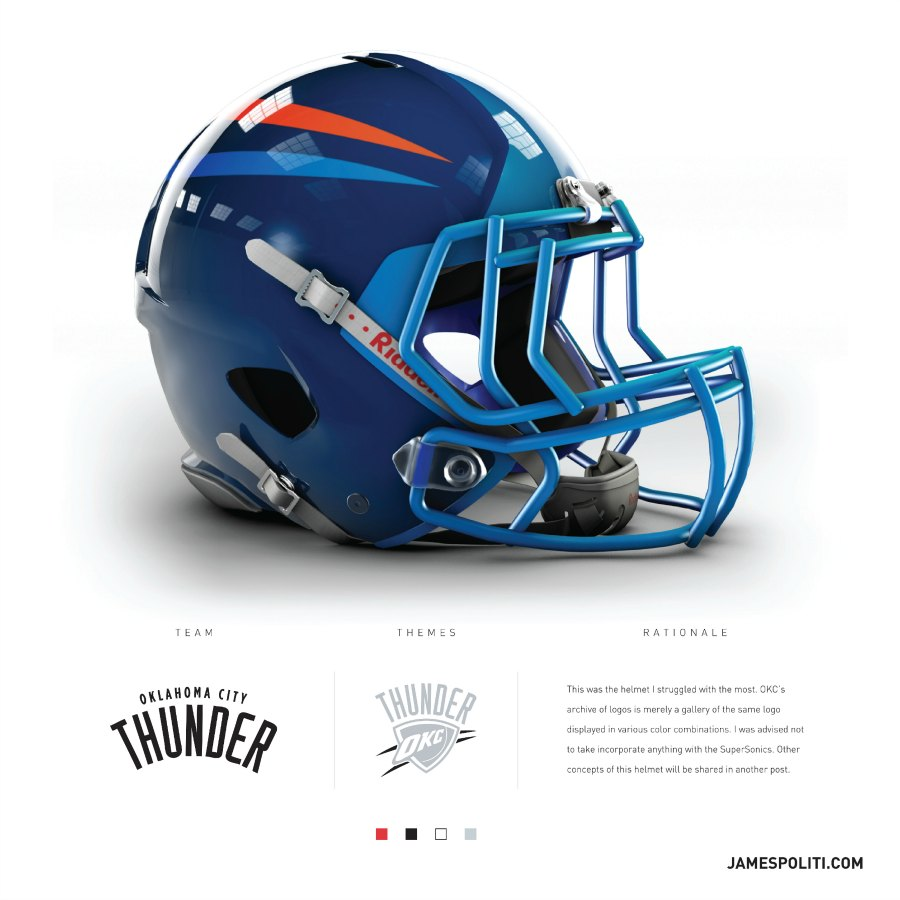 Blazers Thunder Reddit: NBA Teams Get NFL Helmets From Graphic Designer