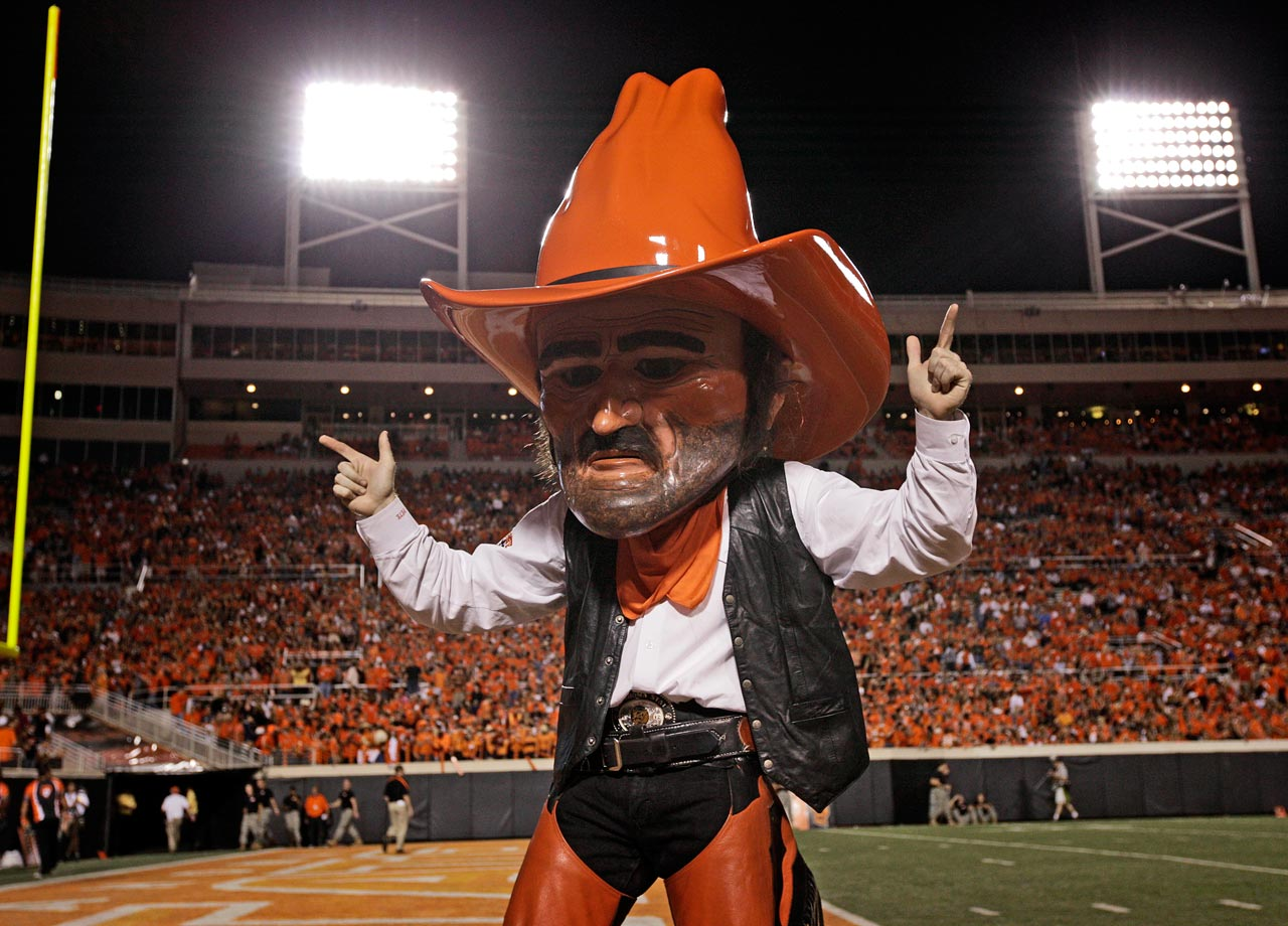 "One of the most recognizable college mascots in the nation, Pistol Pete's perpetually frozen face has stalked the sidelines at Cowboys games for more than 55 years. But Pistol Pete is actually based on a real person: legendary U.S. marshal and author Frank Eaton, one of the most enduring symbols of the Old West. In the dictionary, the word ""cowboy"" ought to include Eaton's mustachioed mug."