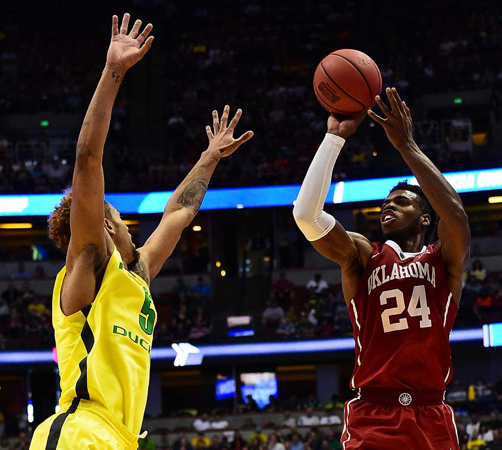 Hield made eight three-pointers in leading Oklahoma to its first Final Four since 2002.