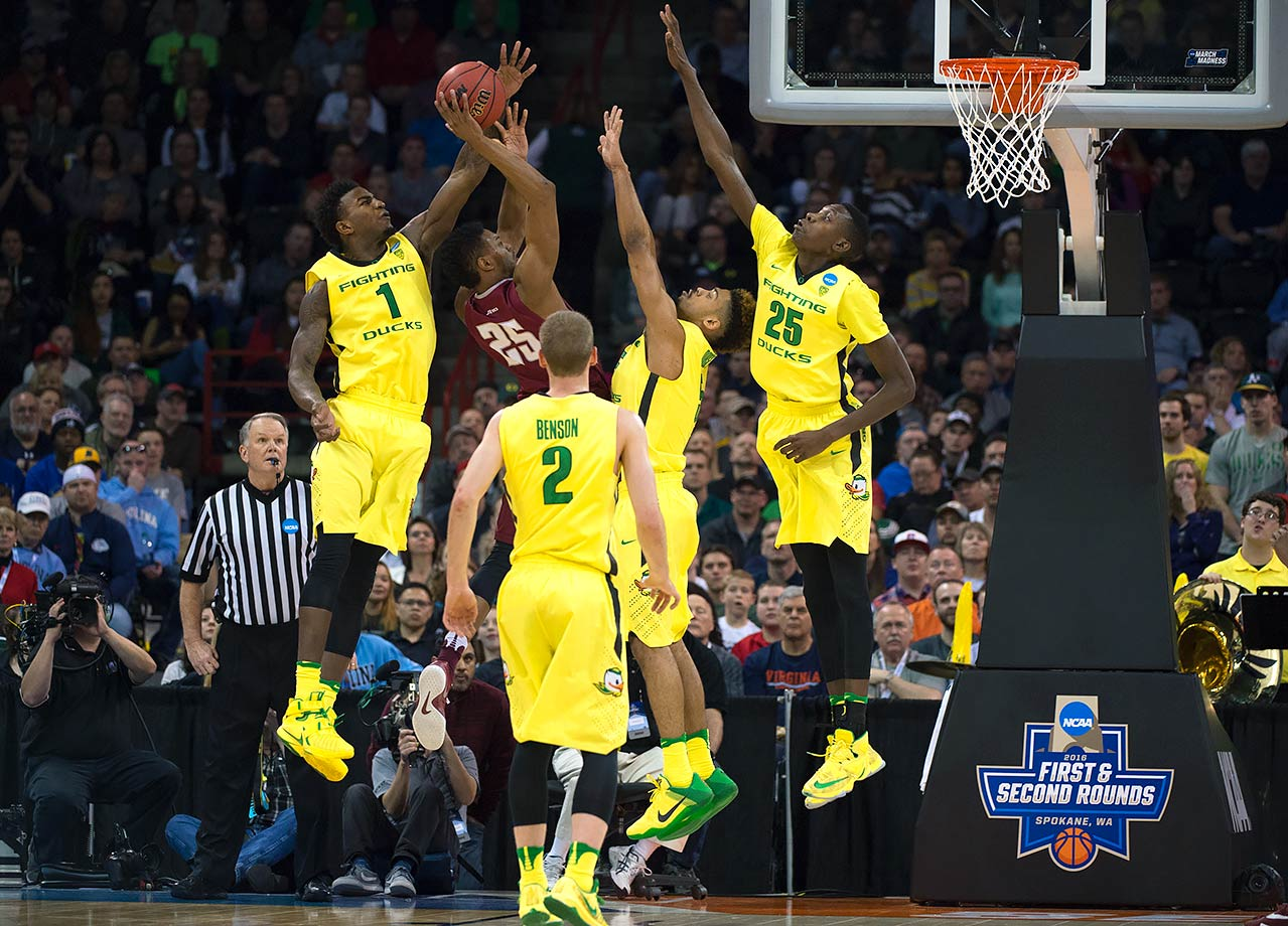 No one questions Oregon's offense. With Duke and Oklahoma standing in their way in the West Region, and a potential matchup with Kansas in the Final Four, can their defense do enough to keep them dancing? The bet here is no.