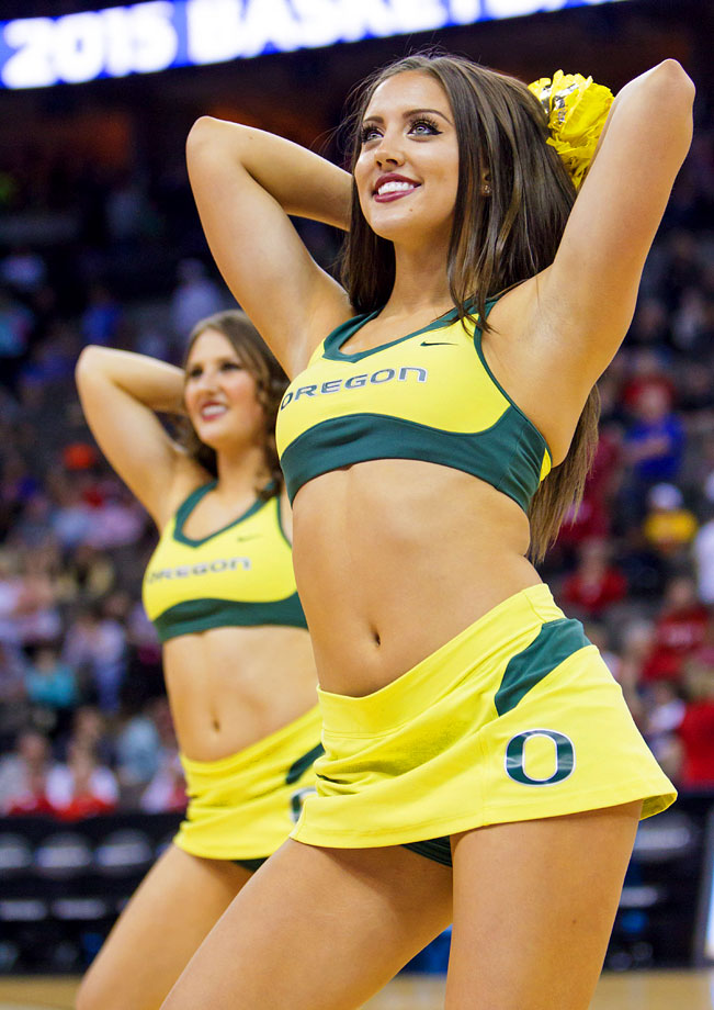 Oregon state basketball cheerleaders consider